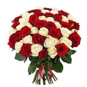 Букет №7 из 51 уральской розы 60 см