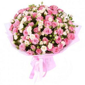 Букеты №1 из кустовых роз