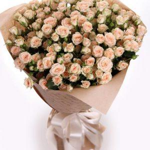 Букеты №3 из кустовых роз