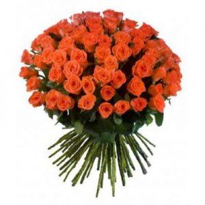 Букет №6 из 51 уральской розы 50 см