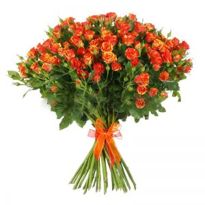 Букеты №12 из кустовых роз