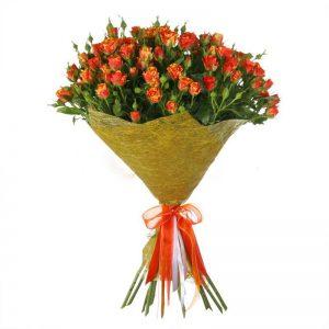 Букеты №10 из кустовых роз