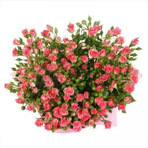 Букеты №9 из кустовых роз