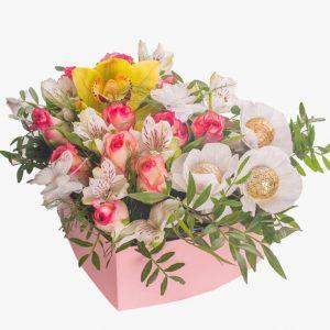 Цветы в коробках №17