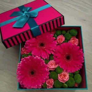 Цветы в коробках №14